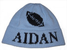 Butterscotch Personalized Football Knitted Hat