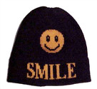Butterscotch Personalized Smiley Face Knitted Hat