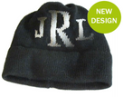 Butterscotch Personalized Knitted Hat with Metallic Monogram Initials