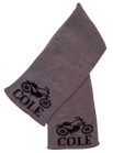 Butterscotch Personalized Vintage Motorcycle Knitted Scarf