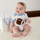 """""""Tiny Touchdown"""" Football Themed Three Piece Layette Set"""