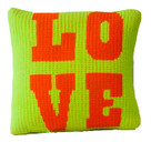 "Butterscotch Love Knitted Pillow Non-Personalized (15"" x 15"")"