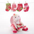 """Hannah Hop-in-Socks"" Plush Baby Bunny & Socks Gift Set"