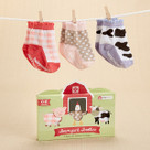 """Barnyard Booties"" Farm Fun Socks Baby Gift Set"