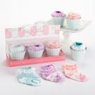 """""""Baby Cakes"""" 3 Pairs of Socks Baby Gift Set"""