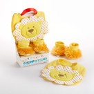 """Chomp & Stomp"" Lion Bib and Booties Baby Gift Set"
