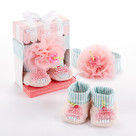 """Baby Cakes"" Cupcake Headband and Booties Baby Gift Set"