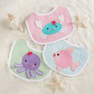 """Beach Buddies"" 3-Piece Bib Baby Girl Gift Set"