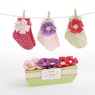 """Baby in Bloom"" 3 Pairs of Socks Baby Gift Set"
