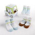 """Fairway Footies"" 3 Pair of Socks Baby Boy Golf Themed Gift Set"