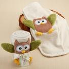 """My Little Night Owl"" Plush Velour Baby Blanket Baby Gift Set"
