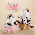 """Daisy Lou & Bloomer, Too!"" Plush Cow and Bloomer Baby Gift Set"