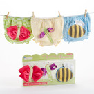 """Buzzin' Bloomers"" Set of 3 Bloomers Baby Gift Set (0-6 months)"