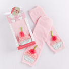 """Baby Cakes"" Cupcake Leg Warmers Baby Gift Set (0-12 Months)"