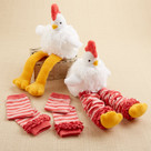 """Chicken Legs"" Plush Chicken and Leg Warmers Baby Gift Set"