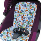 Blue Elephant Stroller Liner & Baby Elephant Ears Headrest Pillow Set