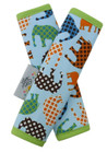Blue Elephant Baby Stroller Strap Cover