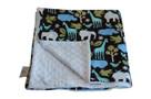 Zoology Blue Baby Elephant Ears Blanket