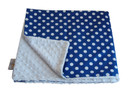 Royal Blue Dot Baby Elephant Ears Blanket