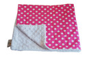 Bright Pink Dot Baby Elephant Ears Blanket