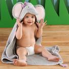 """Splish Splash Elephant Bath"" Hooded Spa Towel"
