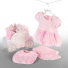"""Little Princess"" Baby Bib, Burp & Bodysuit Gift Set"
