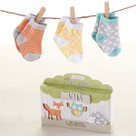 """My Forest Friends"" 3 Pairs of Socks Baby Gift Set"