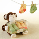"""My Little Sock Monkey"" Plush Animal & Socks Baby Gift Set"