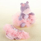 """Lady Lulu and Baby's Tutu"" Plush Hippo & Bloomer Baby Gift Set"