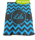 Chevron with Banner Personalized Butterscotch Blankee