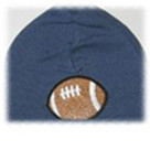 Denim Blue Football Boy Hat
