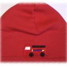 Red Fire Truck Boy Hat