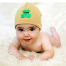 Tan Frog Baby Hat