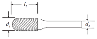 Cylinder Shape Bur With Radius End