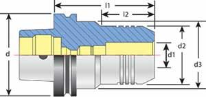 HSK 63F Tool Holder Diagram