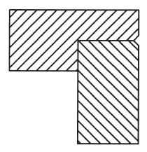 V-Groove Flush Trim Router Bit Cutting Profile
