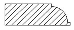 Beading Router Bit Cutting Profile
