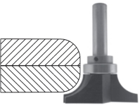 Round Under Router Bit for Solid Surface