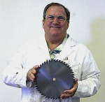 Tom With His Patented Saw Blade
