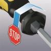 Wera 900 series screwdriver non-roll handle