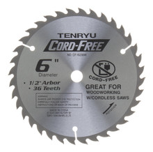 Tenryu CF-15236W - Cord Free Series Saw Blade for Wood