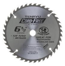 Tenryu CF-16540W - Cord Free Series Saw Blade for Wood