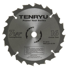 Tenryu PT-18516B - Power Tool Series Saw Blade for Table/Portable Saw