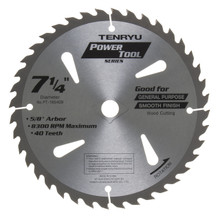Tenryu PT-18540B - Power Tool Series Saw Blade for Table/Portable Saw