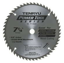 Tenryu PT-18552-T - Power Tool Series Saw Blade for Table/Portable Saw