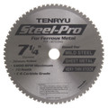 "Steel-Pro Saw Blade, 7-1/4"" Dia, 70T, 0.069"" Kerf, 20mm Arbor, Tenryu PRF-18570BW2"