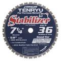"Steel-Pro Stabilizer Saw Blade, 7-1/4"" Dia, 36T, 0.079"" Kerf, 5/8""KO Arbor, Tenryu PRF-18536BWK"