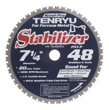 "Steel-Pro Stabilizer Saw Blade, 7-1/4"" Dia, 48T, 0.079"" Kerf, 20mm Arbor, Tenryu PRF-18548BWK2"