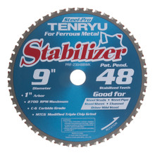 "Steel-Pro Stabilizer Saw Blade, 8"" Dia, 48T, 0.087"" Kerf, 5/8"" KO Arbor, Tenryu PRF-20348BWK"
