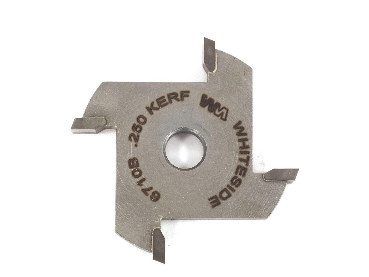 4 Wing Slot Cutter, 1-7/8 Dia, 1/4 Kerf, 5/16 Bore, Whiteside 6710B